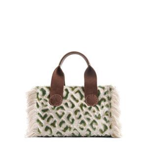 De Belle Mini in Green leopard is de combinatie van stijlvol en stoer.