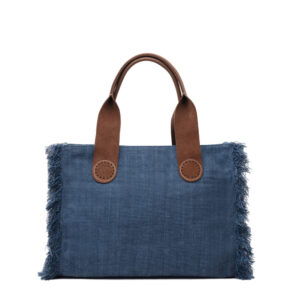 De Belle tote bag in Blue Jeans neem je elke dag mee.