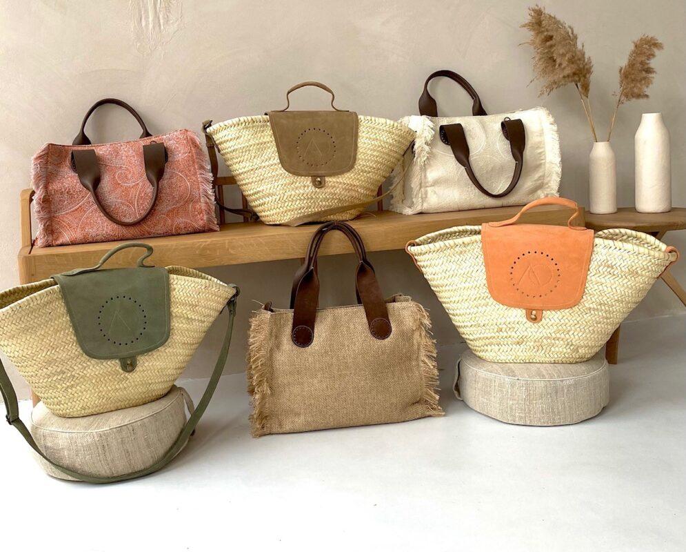 April&October Belle tote bag en Jane straw bag tassen