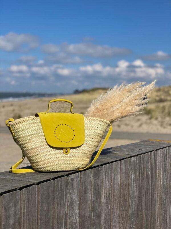 Grote strandtas met rits kopen